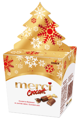 merci Crocant Tanne - Krokant-Pralinen mit zarter Vollmilchschokolade