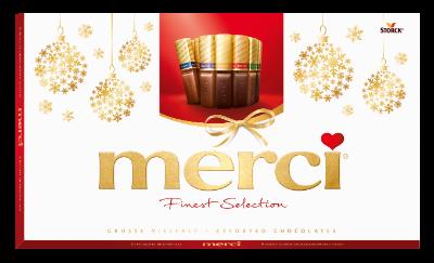 merci Große Vielfalt 400g Neujahr - Gefüllte und nicht gefüllte Schokoladen-Spezialitäten.