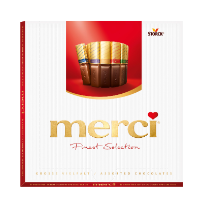 merci Grosse Vielfalt 200g - Gefüllte und nicht gefüllte Schokoladen-Spezialitäten.