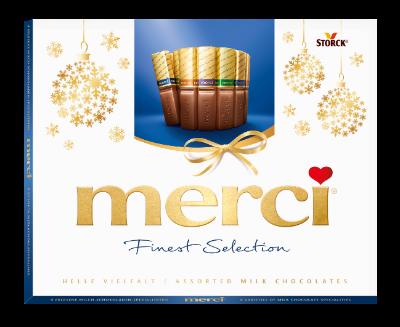 merci Helle Vielfalt 250g Neujahr - Gefüllte und nicht gefüllte Schokoladen-Spezialitäten.