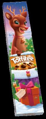 Toffifee 3x15 Stück Rentier - Die Haselnuss (10 %) in Caramel (41 %) mit Nougatcreme (37 %) und Schokolade (12 %).