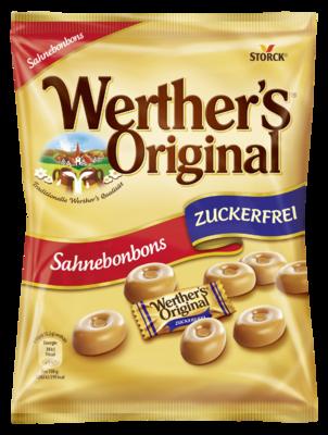 Werther's Original Rahmbonbons zuckerfrei - Zuckerfreies Sahnebonbon mit Süßungsmitteln