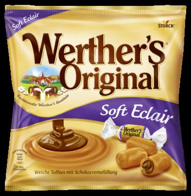 Werther's Original Soft Eclairs - Sahnetoffees mit Schokoladencremefüllung (25%)