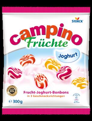 Campino Früchte Joghurt - Joghurt-Fruchtbonbons in den Geschmacksrichtungen: Erdbeere, Kirsche und Pfirsich