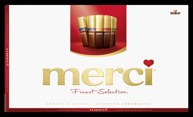 merci Große Vielfalt 400g - Gefüllte und nicht gefüllte Schokoladen-Spezialitäten.