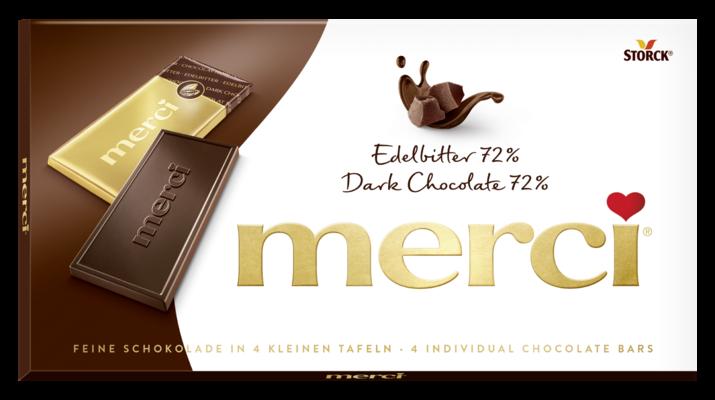 merci Tafelschokolade Edelbitter 72% - Edel-Bitterschokolade