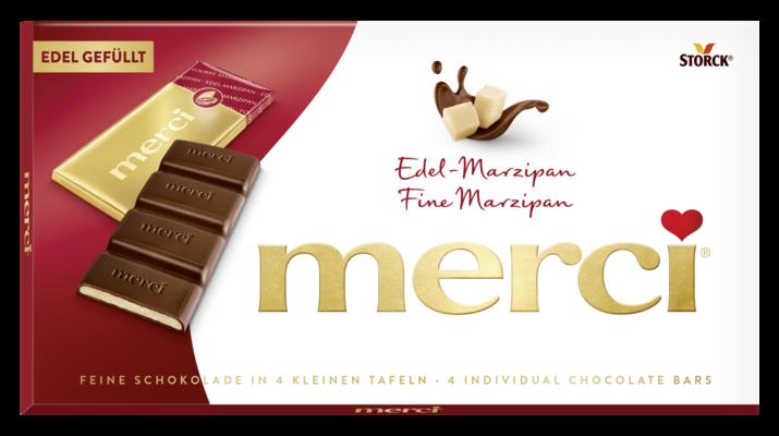 merci Tafelschokolade Marzipan - Edel-Zartbitterschokolade mit Edel-Marzipan Füllung (38%)