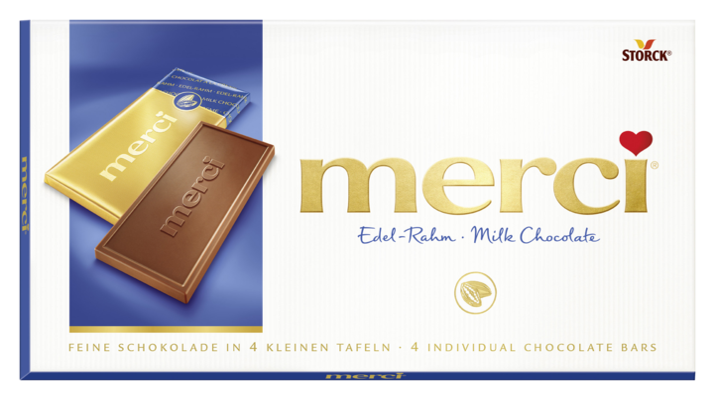 merci Tafelschokolade Edel-Rahm - Edel-Sahneschokolade