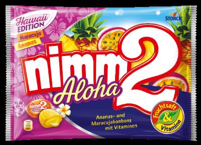 nimm2 Aloha - Gefüllte Fruchtbonbons mit Vitaminen