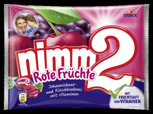 nimm2 Rote Früchte - Gefüllte Fruchtbonbons mit Vitaminen