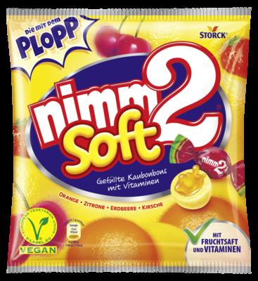 nimm2 soft - Gefüllte Fruchtkaubonbons mit Vitaminen