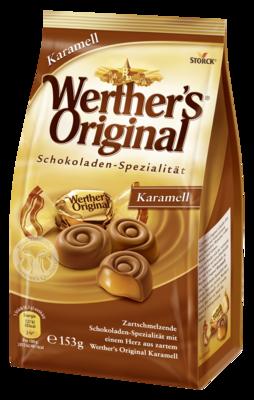 Werther's Original Karamell - Vollmilchschokolade mit Karamellfüllung (45%)