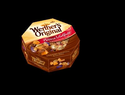 Werther's Original Feine Vielfalt - Mischung von gefüllten und nicht gefüllten Schokoladen-Spezialitäten und Karamell Konfekt