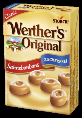 Werther's Original Minis zuckerfrei - Zuckerfreie Sahnebonbons mit Süßungsmitteln