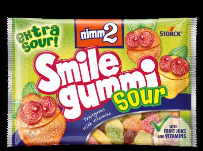 nimm2 Smilegummi - savanyú - Vegyes gyümölcs ízű savanyú gumicukorka vitaminokkal
