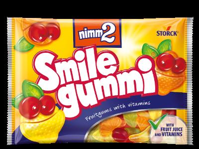 nimm2 Smilegummi - gyümölcsös - Vegyes gyümölcs ízű gumicukorka vitaminokkal