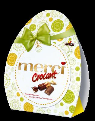 merci Crocant Húsvéti tojás - Tejcsokoládé ropogós mogyorós töltelékkel