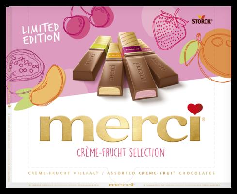merci Gyümölcsös Válogatás 250g - Töltött gyümölcsös csokoládékülönlegességek