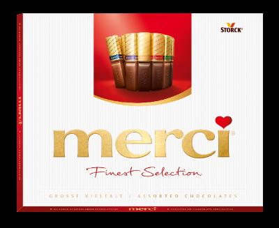 merci Tej- és Étcsokoládé Válogatás 250g - Töltött és töltetlen csokoládékülönlegességek.