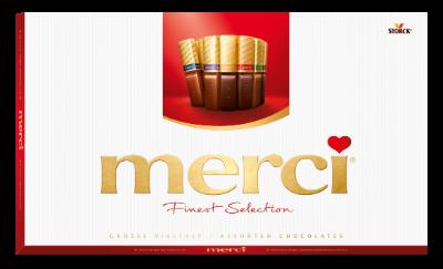 merci Tej- és Étcsokoládé Válogatás 400g - Töltött és töltetlen csokoládékülönlegességek.