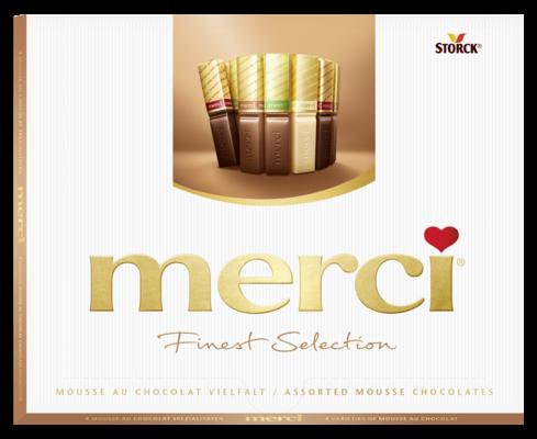 merci Finest Selection Mousse au Chocolat Variety 210g - Csokoládékülönlegesség habkrémes töltelékkel (40%)
