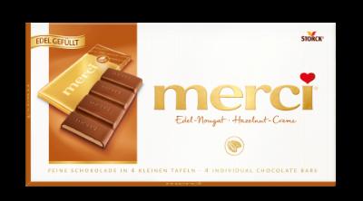 merci Táblás csokoládé - mogyorókrémes - Tejcsokoládé mogyorókrémmel töltve (43%)