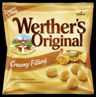 Werther's Original Creamy Filling - Tejszínes cukorka karamellkrémmel töltve (24%)