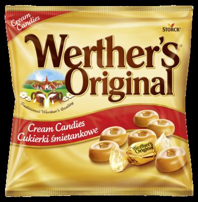 Werther's Original Tejszínes töltetlen, kemény karamellcukorka - Tejszínes töltetlen keménycukorka