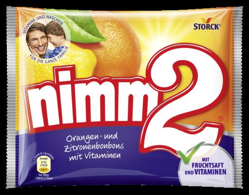 nimm2 caramelle dure alla frutta con vitamine - Caramelle con ripieno alla frutta con vitamine