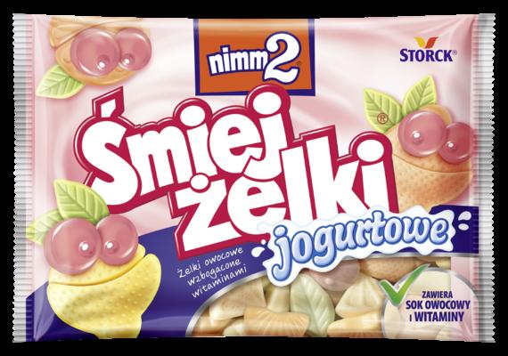 nimm2 Śmiejżelki jogurtowe 100g - Żelki owocowe z odtłuszczonym jogurtem wzbogacone witaminami