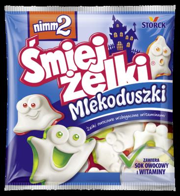 nimm2 Śmiejżelki Mlekoduszki 90g - Żelki owocowe z odtłuszczonym mlekiem wzbogacone witaminami