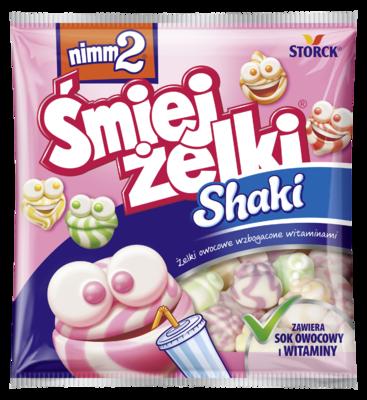 nimm2 Śmiejżelki Shaki 90g - Żelki owocowe z odtłuszczonym mlekiem wzbogacone witaminami