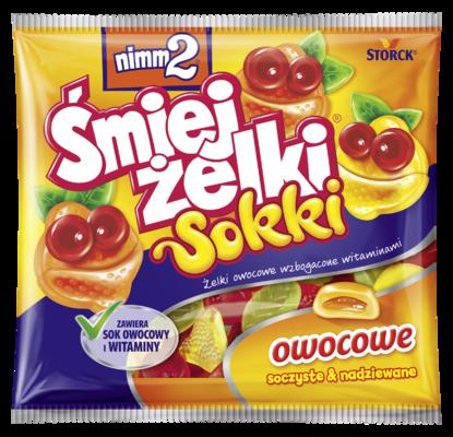 nimm2 Śmiejżelki Sokki 90g - Nadziewane żelki owocowe wzbogacone witaminami