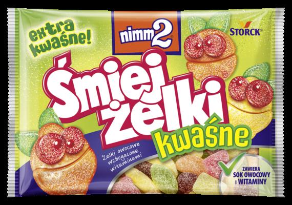 nimm2 Śmiejżelki kwaśne 100g - Żelki owocowe wzbogacone witaminami