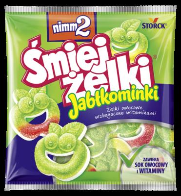 nimm2 Śmiejżelki Jabłkominki 90g - Żelki owocowe wzbogacone witaminami