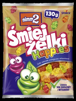 nimm2 Śmiejżelki Happies 130g - Żelki owocowe wzbogacone witaminami