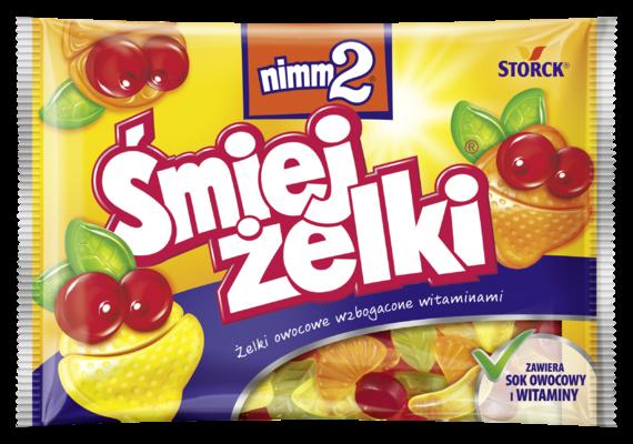 nimm2 Śmiejżelki 100g - Żelki owocowe wzbogacone witaminami