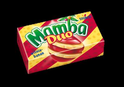 Mamba Duo wiśnia-banan 26,5g - Gumy rozpuszczalne o smakach owocowych