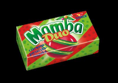 Mamba Duo czerwona porzeczka-limonka 26,5g - Gumy rozpuszczalne o smakach owocowych