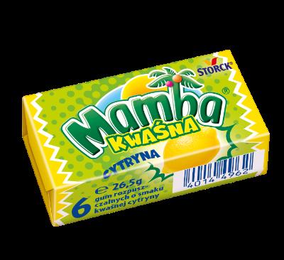 Mamba Kwaśna Cytrynowa 26,5g - Gumy rozpuszczalne o smakach owocowych