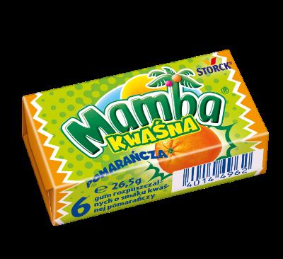 Mamba Kwaśna Pomarańczowa 26,5g - Gumy rozpuszczalne o smakach owocowych