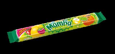 Mamba Kwaśna pasek 4x26,5g - Gumy rozpuszczalne o smakach owocowych