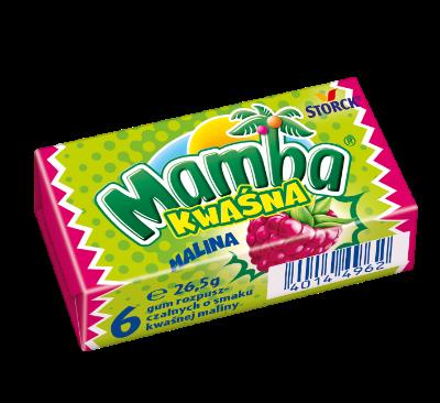 Mamba Kwaśna Malinowa 26,5g - Gumy rozpuszczalne o smakach owocowych