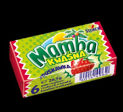 Mamba Kwaśna Truskawkowa 26,5g - Gumy rozpuszczalne o smakach owocowych