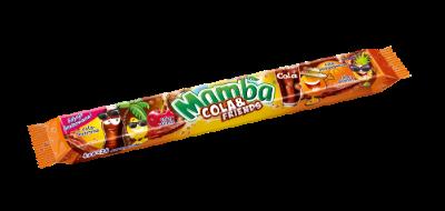 Mamba pasek Cola & Friends 4x26,5g - Gumy rozpuszczalne o smakach owocowych