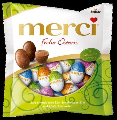 merci Jajeczka Mieszane 120g - Kolekcja nadziewanych i nienadziewanych specjałów czekoladowych