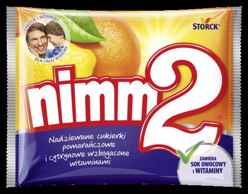 Cukierki nimm2 90g - Nadziewane cukierki owocowe wzbogacone witaminami