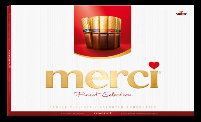 merci Finest Selection veliki odabir čokoladnih specijaliteta 400g - Mješavina čokolada i punjenih čokolada.