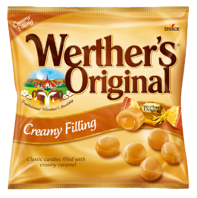 Werther's Original Creamy Filling - Tvrdi bomboni s vrhnjem punjeni karamelom (24%)