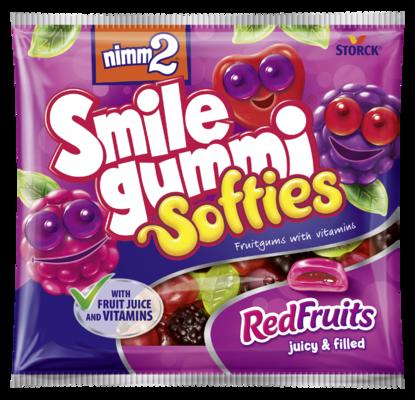 nimm2 Smilegummi Softies Red Fruits - Mäkké plnené ovocné želé obohatené vitamínmi